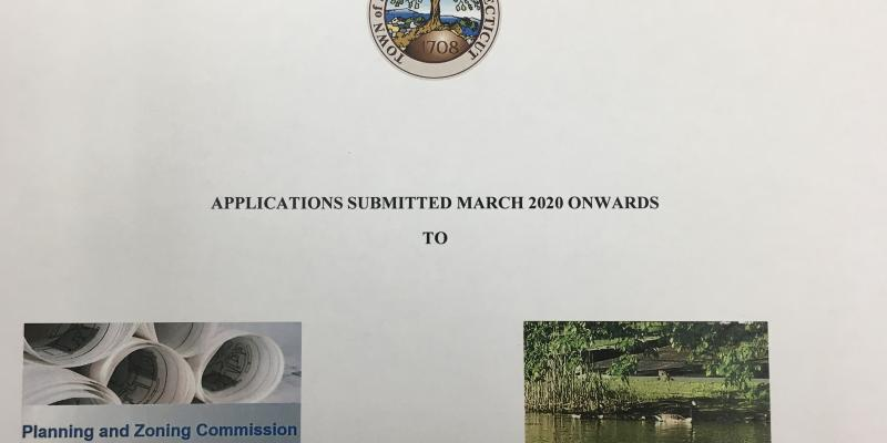 Applications Submittedo to Planning & Zoning Commission and Inland Wetlands Board